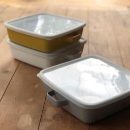 調理もできるホーロー容器 ホーローオーブンディッシュ1個 スクエア 1.8L