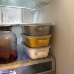 調理もできるホーロー容器 ホーローオーブンディッシュ1個 レクタングル 1.0L 冷蔵庫にも重ねてすっきり。