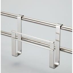 ステンレス製伸縮式シンク収納スタンド 包丁スタンド付き まな板立て