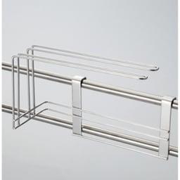 ステンレス製伸縮式シンク収納スタンド 包丁スタンド付き ふきん掛け