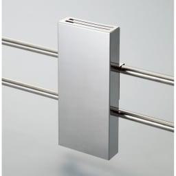 ステンレス製伸縮式シンク収納スタンド 包丁スタンド付き 包丁スタンド(刃渡り20cmまで収納可)