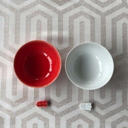 あたり飯碗紅白揃2色4点セット