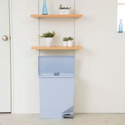 ユニード スイッチペダル35 スリムダストボックス ゴミ箱 (イ)ブルー