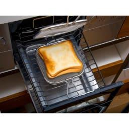 トースターや魚焼きグリルで ホットサンド グリルホットサンドメッシュ 魚焼きグリルでも使用できます。
