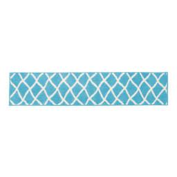 抗菌防臭加工ベニワレン風キッチンマット 50×180cm (ウ)ブルー