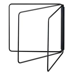 折り畳み布巾ハンガー タワー (イ)ブラック