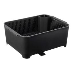 漬け置きできる 水切りラック洗い桶セット  タワー イ)ブラック