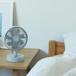 recolte/レコルト キッチンや寝室に!充電式コードレステーブルファン 扇風機 おやすみ前の、寝苦しい夜の涼み用に。