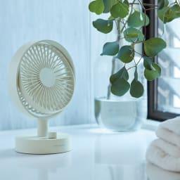 recolte/レコルト キッチンや寝室に!充電式コードレステーブルファン 扇風機 お風呂上がりのクールダウンに。