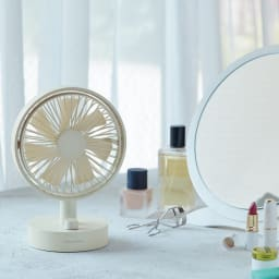 recolte/レコルト キッチンや寝室に!充電式コードレステーブルファン 扇風機