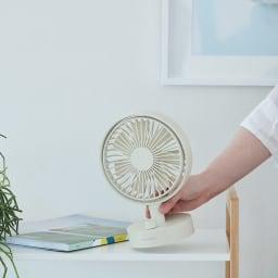 recolte/レコルト キッチンや寝室に!充電式コードレステーブルファン 扇風機 リズムモード搭載