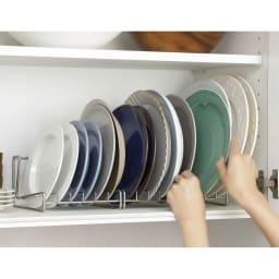 家事問屋 水切りラックにもなる ディッシュスタンド26 食器棚にも。