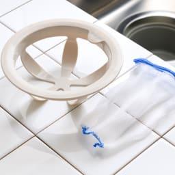 シンク掃除が楽になる排水口ネットホルダー