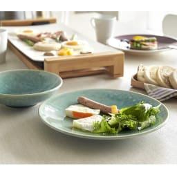 Jars/ジャス ディナープレート TOURRON 同色2枚組 ワンプレート料理やメインの大皿にもお使いいただけます。 (ア)ジェイド ※お届けはディナープレートです。