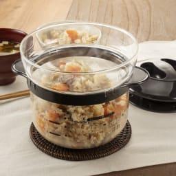 HARIO ハリオ ガラスのレンジご飯釡1~2合