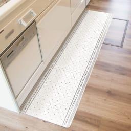 汚れが拭ける北欧風キッチンマット 45×180cm (イ)ベルベル