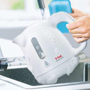 T-FAL/ティファール 洗える電気ケトル ウォッシャブル0.8L KO8001JP 写真