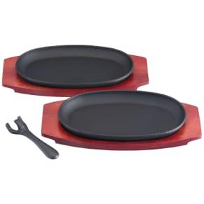 トレイ付きマルチステーキ皿 2枚組 写真