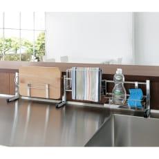 ステンレス製伸縮式シンク収納スタンド レギュラー