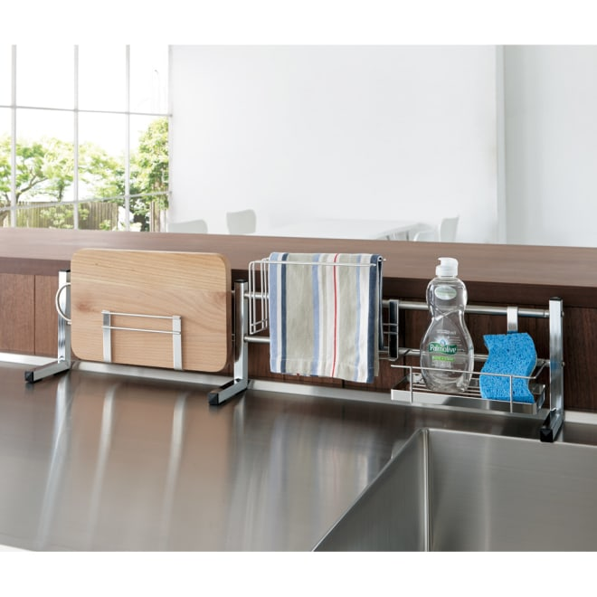 ステンレス製伸縮式シンク収納スタンド レギュラー レギュラータイプ