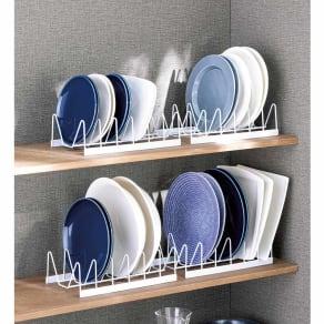 皿を立てて置けるディッシュラック4個組 写真
