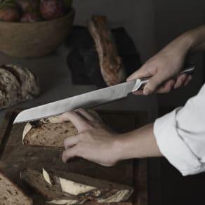 DYK(ダイク) 食洗機OK! パン切り包丁 シルバー 写真