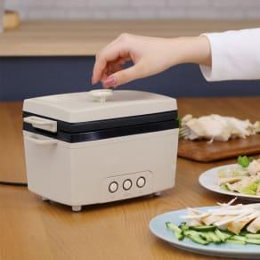 ボタン1つで作れる サラダチキンメーカー 写真