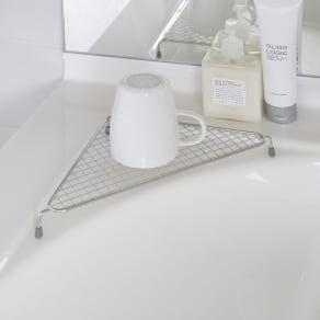 家事問屋 水切りコーナーラック 写真