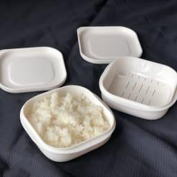 炊き立てご飯を美味しく冷凍!マーナ 極 冷凍ごはん容器 2個組
