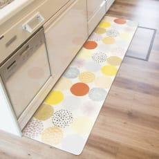 汚れが拭ける北欧風キッチンマット 45×180cm