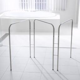 コンパクト設計ステンレス製バスタオルハンガー 3連
