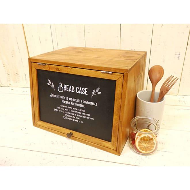 木製ブレッドケース ぬくもりのある木製。