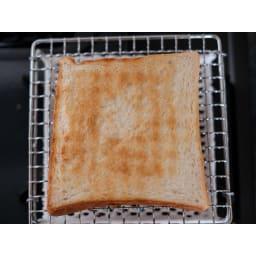 ふっくらおいしくパンを焼く セラミック焼網 小サイズ 綺麗な焼き色が付きます