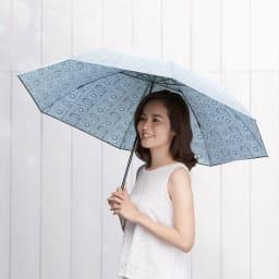 フィンレイソン 晴雨兼用大判折りたたみ日傘 60cm(直径105cm) [コーディネート例] (イ)ブラック