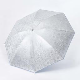 フィンレイソン 晴雨兼用大判折りたたみ日傘 60cm(直径105cm) 表面:シルバー(3色共通)