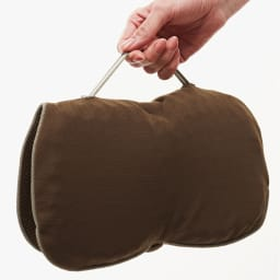 持ち運べるWゲル携帯クッション ハネナイト (イ)ブラウン 折り畳み時