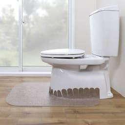汚れが拭ける消臭トイレマット ロング無地
