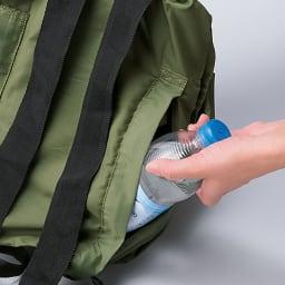 Shupatto(シュパット) リュック (コンパクト・携帯・旅行 リュック) ペットボトルなどの収納に便利な外ポケット付き。