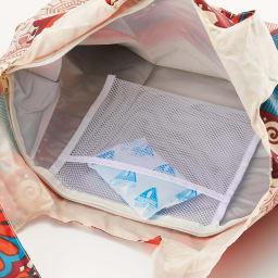エンビロサックス保冷エコバッグ2個セット 内側のメッシュポケットに保冷剤を入れて使用。