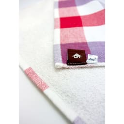 プリスAg+テーブルふきん同色2枚組 表はガーゼ、裏面はパイル織りです。