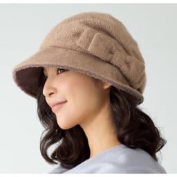 蓄熱素材のたためるすっぴん隠し帽子 (ア)ベージュ