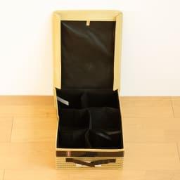 収納BOX メンズベルト(柄:ブラウン)