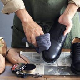 クリーニングクロスカーキ 靴磨きに。