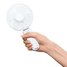 日傘に挟んで使える!3WAY涼しやワンタッチファン 風量3段階調節