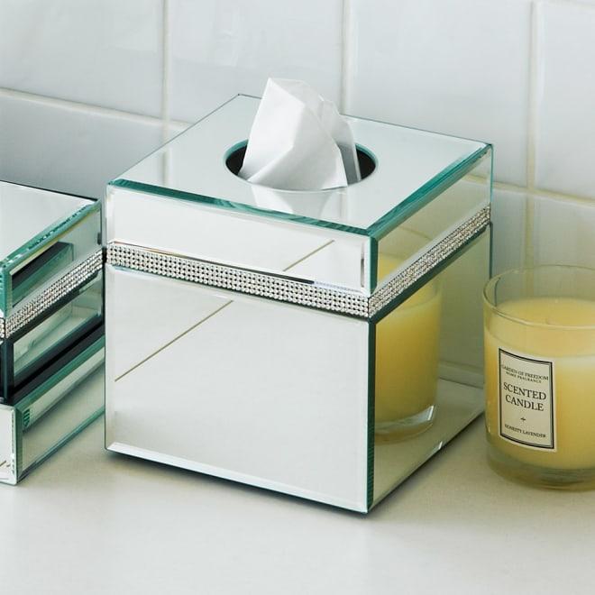 ミラー洗面グッズ ティッシュボックス