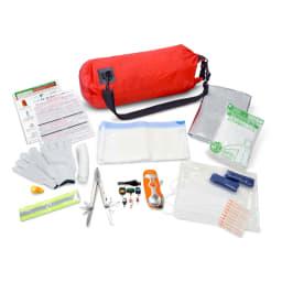 EX.48 防水マルチキャリーバッグ 【防災士・被災経験者が厳選した内容物セット】10Lの水も運べる!内容充実なのに、楽々肩がけ・手持ちですぐ持ち出せるキャリーバッグ簡易トイレセットのお届けは、ベンリーシートになります