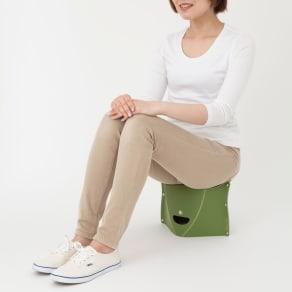 折りたためて持ち運べる椅子【パタット PATATTO 180】同色2個セット 写真