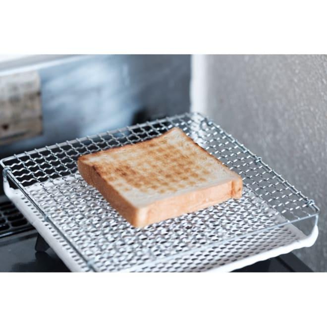 ふっくらおいしくパンを焼く セラミック焼網 大サイズ