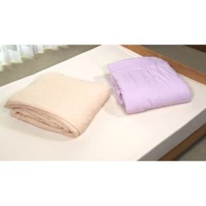 シングル シルク真綿のシフォンケット 写真