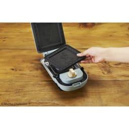 BRUNO ムーミン ホットサンドメーカー シングル(1枚焼き) プレートは取り外して水洗いも可能です。